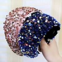 Candy Colors Sequin Padded Headband Hairband Wide Hair Band Hoop DIY Accessories