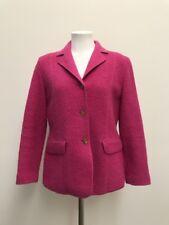 LANDS END WOMENS JACKET Blazer Coat Jacket Size 6 P Small Wool 100% Pink  EUC