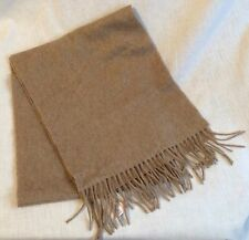 Preston & York 100% Cashmere Tan Scarf Made in Germany New w/ Tags