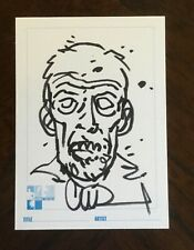 CHARLIE ADLARD original THE WALKING DEAD ZOMBIE Hero Initiative sketch card