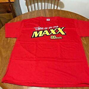 MEGATOUCH MAXX  MERIT ORIGINAL NOS VIDEO GAME MACHINE PROMO T SHIRT XL NEW RARE
