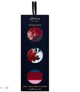 Joules Lip Balm Set Blackberry Elderflower And Honey (Pack of 3)