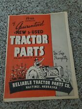Reliable Tractor Parts Co 1946 Catalog Hastings Nebraska Agriculture Farming