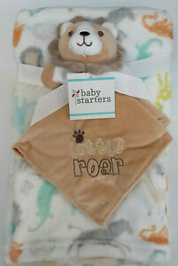 "Rashti & Rashti - Baby Starters Little Roar Nunu & Blanket (30"" x 36"")"