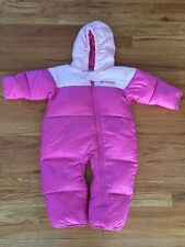 Columbia Snow Suit Size 18 Months Pink Girls Down Infant Baby Winter Jacket Pant