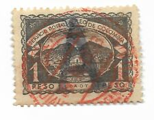 SCADTA Consular 1922 Germany 1p Grey-Black Large 'A' Overprint. SG 10 CDS Used
