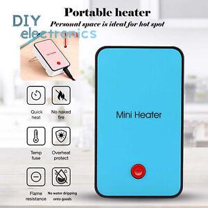 Mini Electric Heater Space Desk Fan Office Home Desktop Winter Warmer US