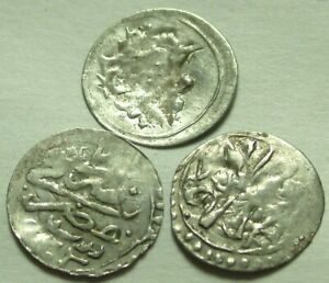 Lot Genuine Islamic silver para coins/Selim III Ottoman Empire MISR Cairo Egypt