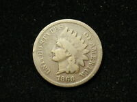SUMMER SALE!  *COLLECTIBLE* 1866 INDIAN HEAD CENT PENNY w/ PARTIAL LIBERTY #19s
