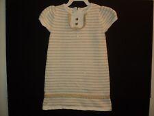 Gymboree Girls Size 3 T Toddler Dress Sweater Knit White & Gold Metallic