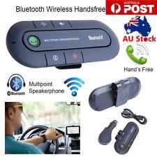 Wireless Multipoint Bluetooth Hands Free Car Speakerphone Speaker Visor Clip