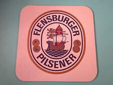 Beer Coaster ~*~ FLENSBURGER Brauerei Pilsener ~ Flensburg, GERMANY ~ Lighthouse