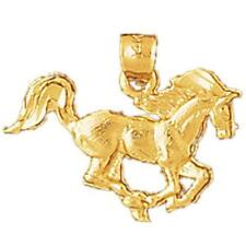 14k Yellow Gold HORSE Pendant / Charm, Made in USA