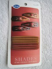 Goody Color Collection Shades of Red 8 Hair Elastics 4 Snap Clips Orange Shiny