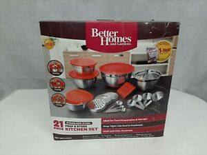 Better Homes and Gardens 21 Piece Stainless Steel Prep & Store Kitchen Set