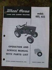 WHEEL HORSE 605, 655  Operators Manual &  Parts  List + Transmission Parts list