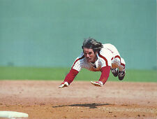 PETE ROSE CLASSIC AIRBORNE FLYING INTO 3RD BASE CHARLIE HUSTLE AT BEST CLASSIC
