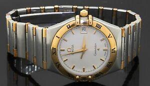 Omega Constellation 18K gold/SS high fashion quartz men's watch w/ date