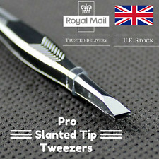 Professional Eyebrow Slanted Tweezers Hair Beauty Stainless Steel