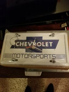 Chevrolet mortorsports clock