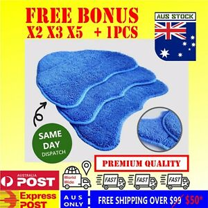FREE BONUS VAX HOOVER Blue Steam Mop Cleaning Triangle Pads Microfibre Washable