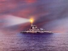 LIGHTHOUSE LED Light Up Lighted Canvas Painting Picture Wall Art Home  Decor