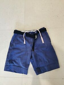 Polo Ralph Lauren Navy Blue Chino Casual Shorts with belt Men's Size 32