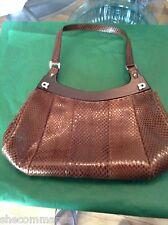 NEW Salvatore Ferragamo Real Snakeskin Leather Handbag