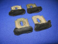 82-92 CAMARO FIREBIRD DOOR GLASS WINDOW GUIDES FELTS FUZZIES FULL SET REAL CLEAN