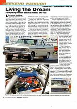 1965 FORD FAIRLANE 500 - 466 CI. IN. -  NICE 2-PAGE WEEKEND WARRIOR ARTICLE / AD