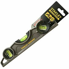 Stanley FatMax 250MM 3 Vail Magnetic Torpedo Level V-Groove for Scaffold Pipes