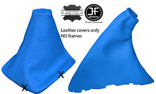 BLUE REAL LEATHER GEAR & HANDBRAKE GAITER FITS FORD FOCUS II MK2 2004-2008