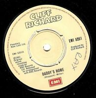 "CLIFF RICHARD Daddy's Home 7"" Single Vinyl Record 45rpm EMI 1981"