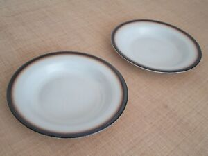2 Suppenteller 22 cm TUSCIA MANCIOLI White Stone porcellana Italy