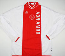 1999-2000 AJAX PLAYER ISSUE UMBRO HOME FOOTBALL SHIRT (SIZE XL)