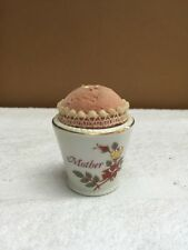 Vintage UO&GC Pin Cushion In Small Short Vase