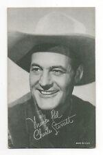 Charles Starrett 1940's 1950's Salutations Cowboy Exhibit Arcade Card