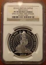 2014 Britannia Proof 1 oz Silver Coin - NGC PF70 Ultra Cameo PERFECT First 500!