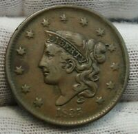 1835 Penny Coronet Large Cent - Nice Coin, Free Shipping  (8856)