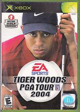 Tiger Woods PGA Tour 2004 (Microsoft Xbox, 2003) With Manual