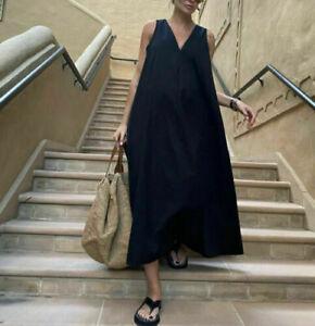 ZARA JOIN LIFE Long Voluminous Flounce Maxi Dress S Small BNWT
