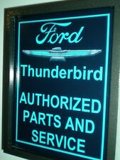 Ford Thunderbird Motors Auto AuthParts Mechanic Garage Man Cave Lighted Sign