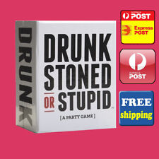 DRUNK STONED OR STUPID - A PARTY GAME - CARDS FOR ADULTS - LATEST VERSION