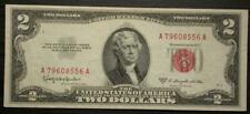 1953 Two Dollar Note Red Seal $2 Bill Us Currency Old Money Crisp Uncirculated