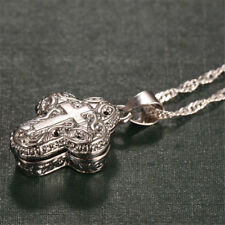 Locket 925 Silver Magnet Ashes Cross Pendant Chain Necklace Women Man Jewelry