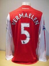 Thomas Vermaelen Arsenal Match Worn 20011/12 Home Football Shirt AFTAL/UACC RD