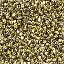 Minos® par Puca® Czech Glass 3mm Barrel Beads Full Dorado - 9g (L104/2)
