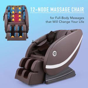 Full Body Electric Massage Shiatsu Reclining Sofa Chair 12 Node w Heat Bluetooth