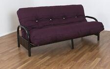 Alice double Futon Sofa lounge Bed Black & Quilted 22 cm Futon Mattress