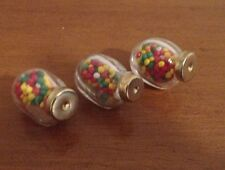 Reutter Porzellan Minature Glass Candy Jars Set Of Three New